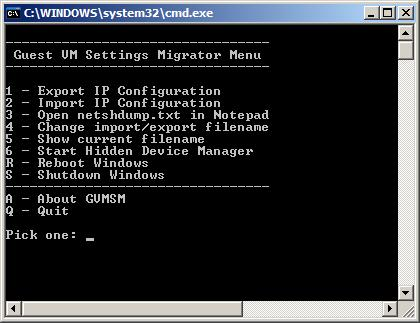 Guest VM Settings Migrator Screenshot